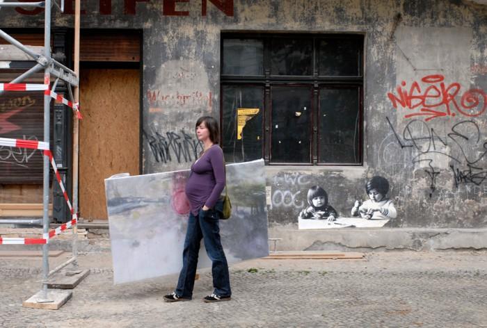 Tanja Selzer Malerin, 1 Kind - geht nich gibt's nich – 48 Stunden sind ein Tag Fotoausstellung von Beate Nelken