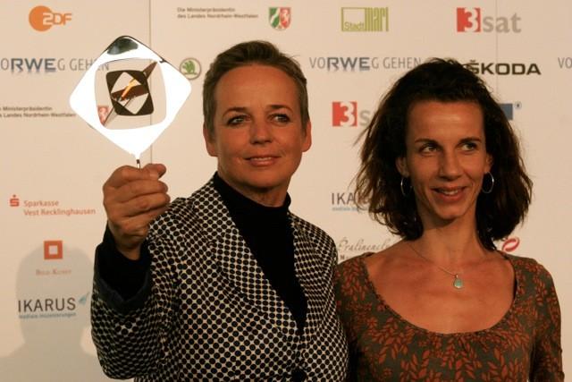 Annekatrin Hendel und Maria Wischnewski auf der Grimme-Preis Verleihung 2013 (Foto Juliane Voigt)